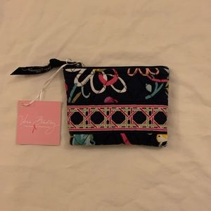 NWT Vera Bradley Coin Purse in Ribbons